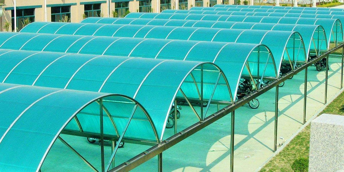 户外遮阳用品PC阳光板案例